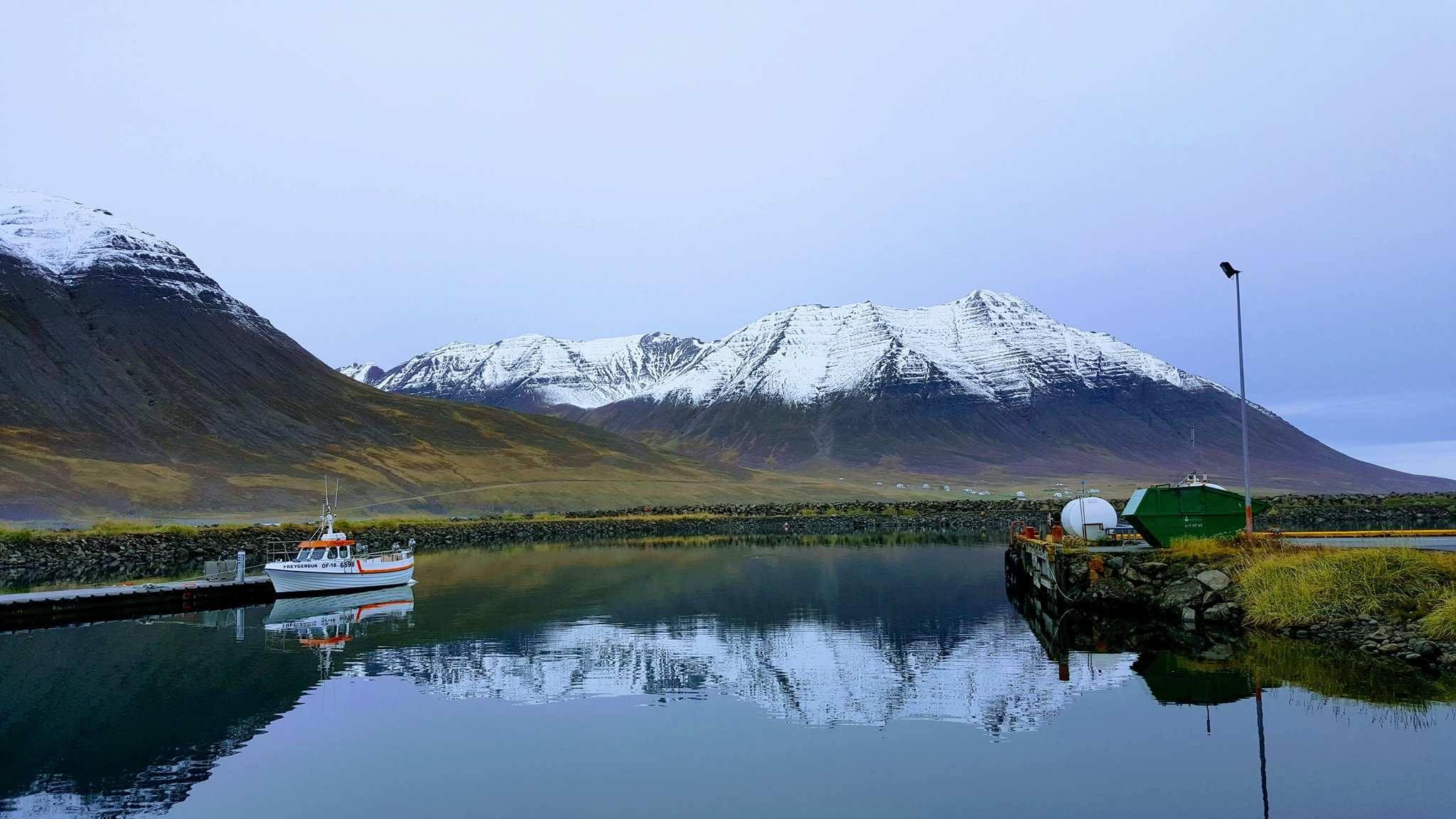 The harbour of Ólafsfjörður